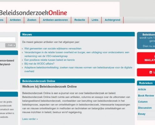 Artikel over WODC-affaire in BeleidsonderzoekOnline